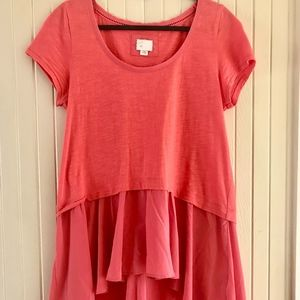 9-H15 STCL Pink Layered Top